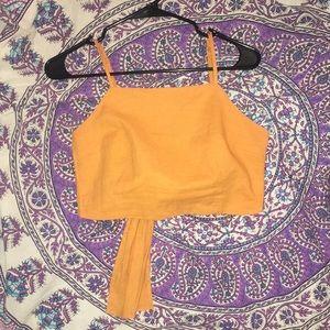 Princess Polly Orange Crop Top